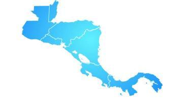 mapa da américa central mostrando introdução por estados video