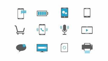 set di icone di tecnologia internet aziendale