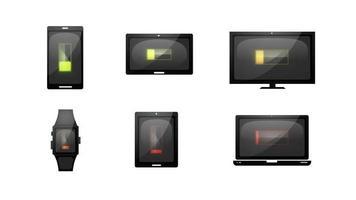 più dispositivi caricano le icone della tecnologia