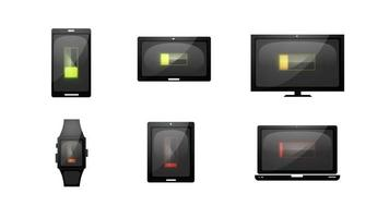 múltiples dispositivos cargando iconos de tecnología
