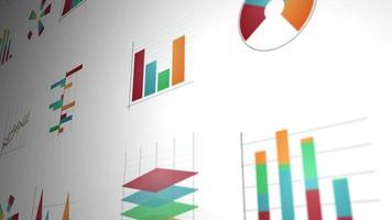 statistiche aziendali e pacchetto layout infografica video