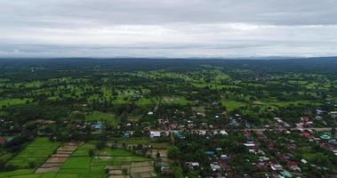 Aerial view countryside of thailand.