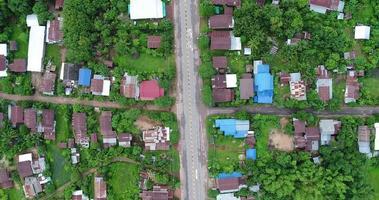 vista aerea campagna della thailandia.