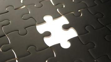 Piece of White Jigsaw Filling by Hand