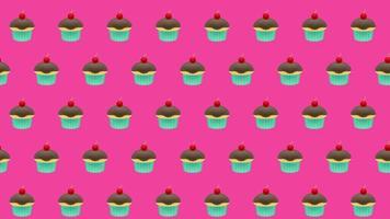 fond de petit gâteau video