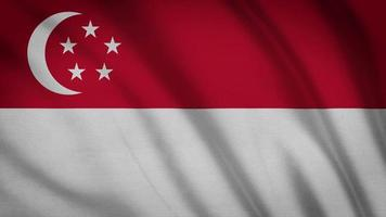drapeau de singapour video