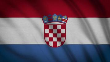 drapeau croatie video