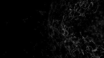 Erdlinienkugel verbinden, Erdteilchen, Erde im Weltraumhintergrund video