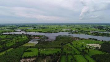 Luftbild landwirtschaftliche Fläche von Thailand.