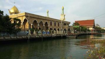 Mezquita ridwanool islam en bangkok, tailandia video