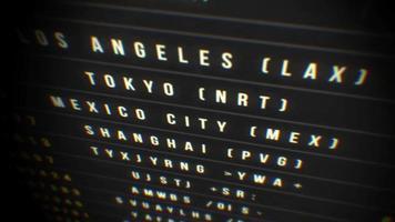 ciclo di bordo di partenza dell'aeroporto video