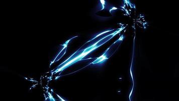 acción de la electricidad y el efecto de la energía del campo de fuerza