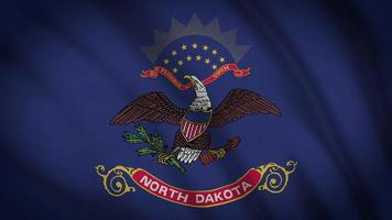 bandeira do estado da Dakota do Norte