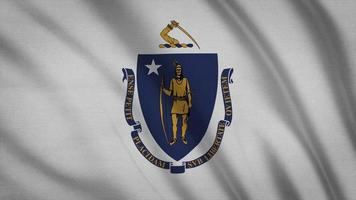 bandeira do estado de Massachusetts
