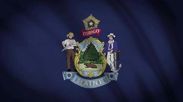 bandeira do estado de Maine