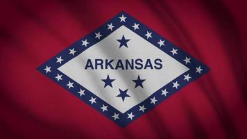 bandera del estado de Arkansas