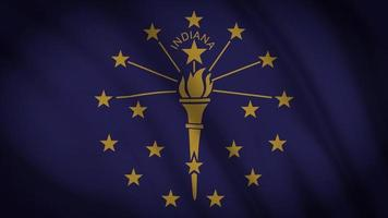 bandeira do estado de indiana