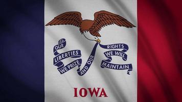 bandera del estado de iowa