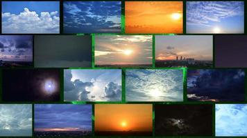 lapso de tempo nublado amanhecer, pôr do sol e tempestade com mudança climática