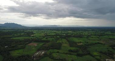 vista aérea do campo da tailândia. video