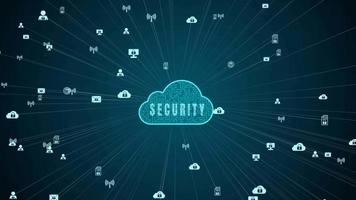 rete dati sicura digitale cloud computing concetto di sicurezza informatica