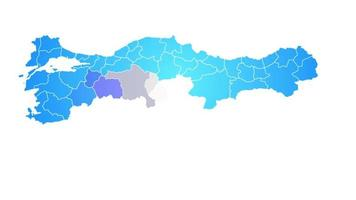 Turkey Country Map Showing Up Intro By Regions