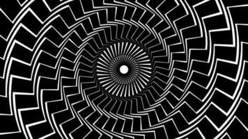 A spinning hypnotic abstract spiral loop