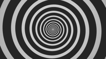 un ciclo spirale astratto ipnotico rotante