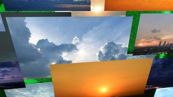 amanhecer nublado, pôr do sol e tempestade video
