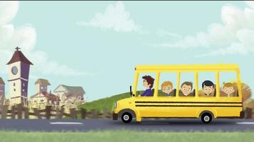 ônibus escolar em viagem de campo
