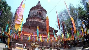 Wat Lokmolee Tempel in Chiang Mai, Thailand (von Fisheye Linse)