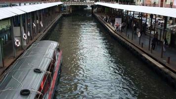 vista superior do barco expresso em bangkok, tailândia