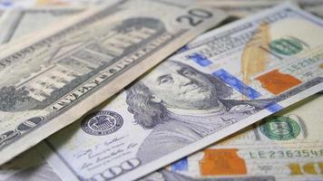 fundo de notas de dólar video