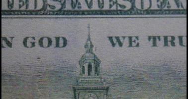 Fondo de billetes de dólar video