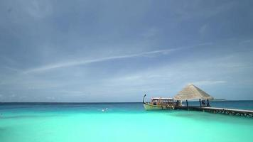Boat on the Ocean, Maldives Island