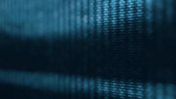 os pixels da tela da tv flutuam com o movimento do vídeo video