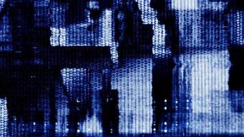abstrakte Datenformen flackern und verschieben sich