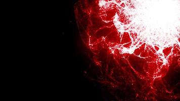 leuchtend rotes Plasma platzt vor Energie video