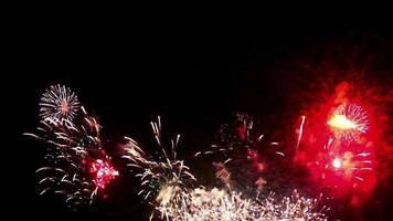 schönes Feuerwerk in der Nacht