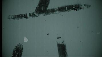 compte à rebours du leader du film avec écriture, poussière et rayures