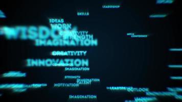 Revelación de texto de éxito empresarial abstracto