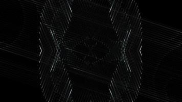 Estructuras abstractas y fondo de luces.