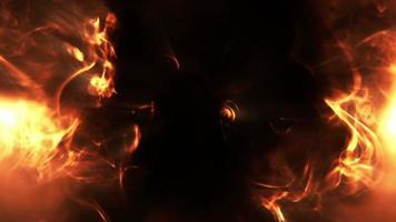 fumaça e fundo de fogo video
