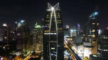 cidade de Banguecoque à noite video