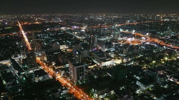 città di bangkok di notte video