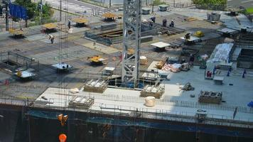 Crane building under construction