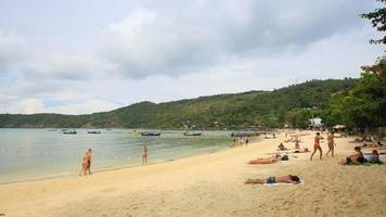 weißer Sandstrand in Phuket, Thailand video