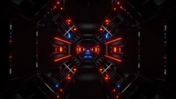 tunnel di fantascienza spaziale video