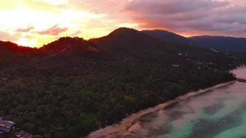 vista aerea dell'isola di samui thailandia