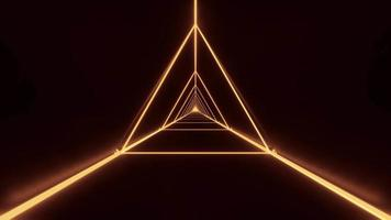 wireframe de triângulo elegante abstrato video